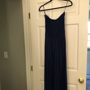 Angie strapless navy jumpsuit